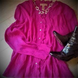 i.e. - Beautiful, crepe feel silk blouse!